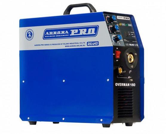 Сварочный полуавтомат AURORA PRO OVERMAN 160 Mosfet 4кВт 220В MIG/MAG 40-160А 0.6-1.0мм 15кг сварочный полуавтомат aurora mig 300 gn
