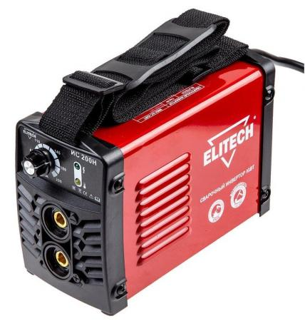 Инвертор ELITECH ИС 200Н (184706) инвертер 140-250в 7.0кВт 20-200а пв=200а/60% o1.6-5мм 2.8кг