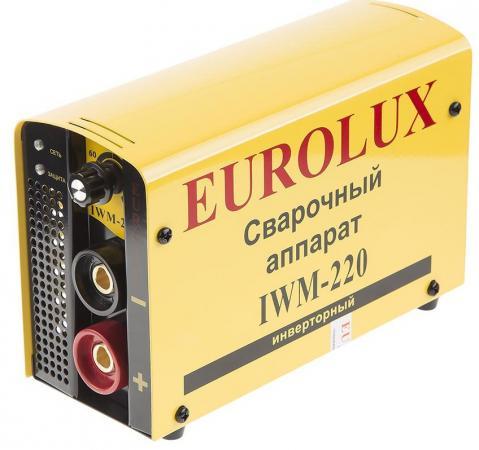 Инвертор сварочный EUROLUX IWM220 220В 10-220А ПВ70% 4.85кг eurolux iwm220 65 28 инверторный сварочный аппарат