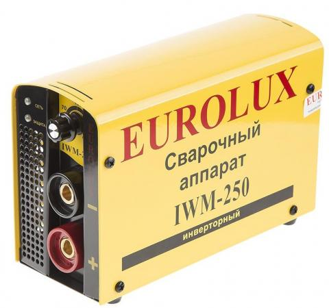 Инвертор сварочный EUROLUX IWM250 220В 10-250А ПВ70% 5кг аппарат сварочный eurolux iwm250 инверторный