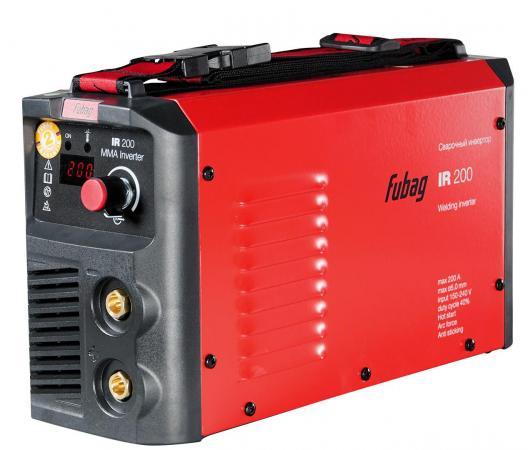 Инвертор сварочный FUBAG IR 200 V.R.D. 30-200А раб. напряжение 150-240В 2.7кг сварочный инвертор fubag ir 200 v r d
