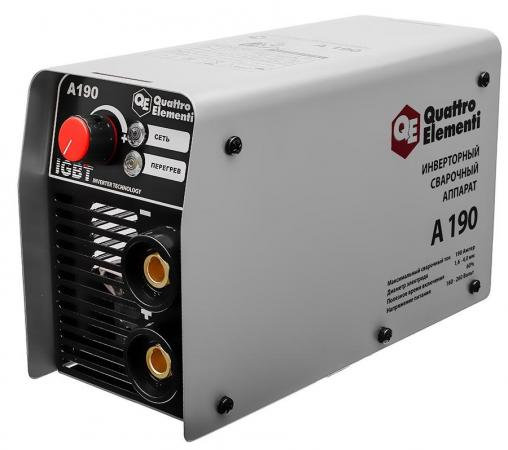 Сварочный инвертор Quattro Elementi ELEMENTI A 190 сварочный аппарат quattro elementi а 180 nano