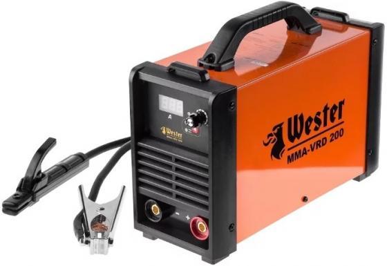 Инвертор сварочный WESTER MMA-VRD 200 10-200A 120-260B ПВ70% 1.6-5.0мм сварочный инвертор wester iwt140 инверторный