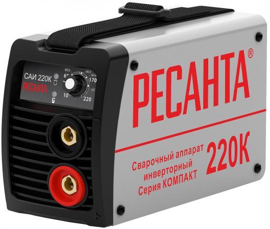 Инвертор сварочный РЕСАНТА САИ 220К компакт 220±10% MMA 10-220А 70% max5мм IP21 сварочный инвертор ресанта саи 220