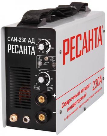 купить Сварочный аппарат инверторный РЕСАНТА САИ-230-АД TIG+ММА 220В 10-230А 70% 360х135х232мм онлайн