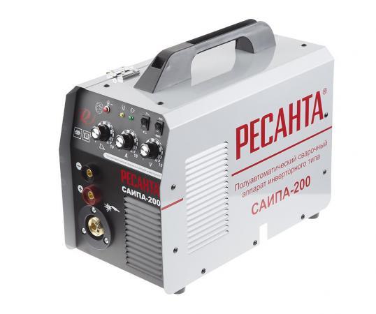 Сварочный аппарат инверторный п/а РЕСАНТА САИПА-200 220В 30-200А 70% 0.8-1мм 14.35кг аппарат сварочный sturm aw97i125 инверторный