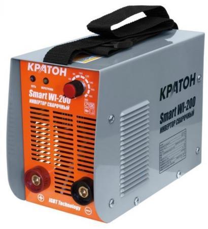 цена на Инвертор сварочный КРАТОН Smart WI-200 7.2кВт 220В 50Гц 10-200А 1.6-5.0мм 6.9кг