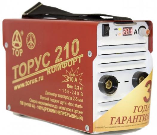 цена на Инвертор сварочный ТОРУС 210 165-242В 6.6кВт 20-210А 2.0-5.0мм ПВ50% ММА и TIG