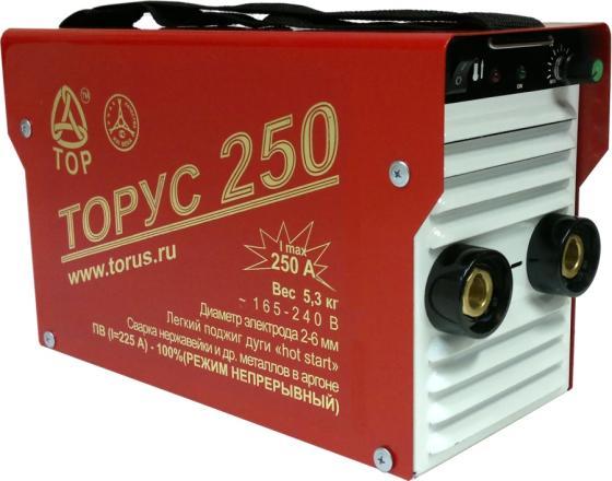 Инвертор сварочный ТОРУС 250 165-242В 8.2кВт 40-250А 2.0-6.0мм ПВ80% ММА и TIG сварочный аппарат торус 200 накс