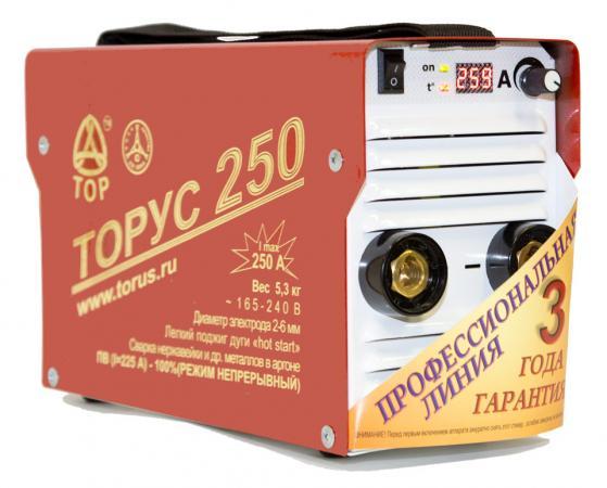 цена на Инвертор сварочный ТОРУС 250+КОМПЛЕКТ 165-242В 8.2кВт 30-250А 2.0-5.0мм ПВ60% провода