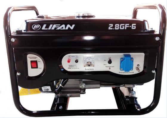 Генератор LIFAN 2.8GF-6 бензиновый 220В 2.8/3кВт 7 лс. генератор lifan 1 5gf 3