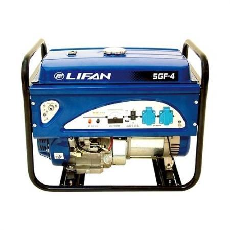 Генератор LIFAN 5GF-4 бензиновый 220В 5/5.5кВт 13 лс. генератор lifan 1 5gf 3