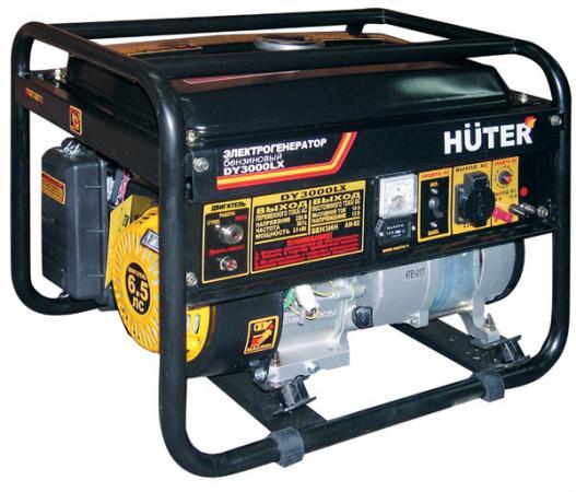 Бензоэлектростанция HUTER DY3000LX электростартер 2,5кВт 50Гц бак12л расх.395г/кВтч 43кг электрический генератор и электростанция huter dy 6500 lx электростартер