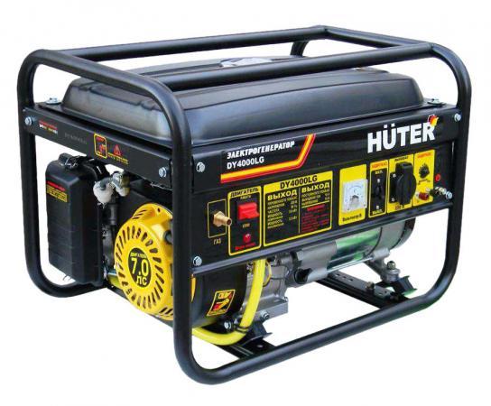 Генератор HUTER DY4000LG 3000Вт бензин/газ 15л ручной стартер