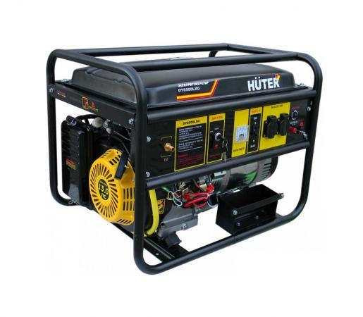 Генератор HUTER DY6500LXG 5000Вт бензин/газ 22л ручной стартер электростратер