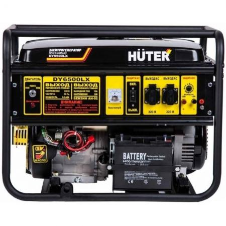 цена на Бензоэлектростанция HUTER DY6500LX электростартер 5,0кВт 50Гц бак22л расх.374г/кВтч 74кг
