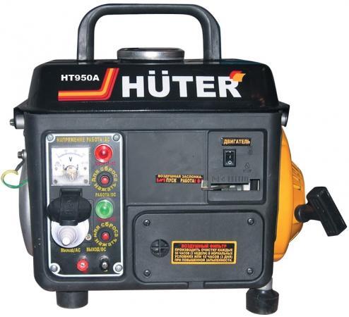 цена на Бензоэлектростанция HUTER HT950A 0,65кВт 50Гц бак4.2л расх.534г/кВтч 20кг