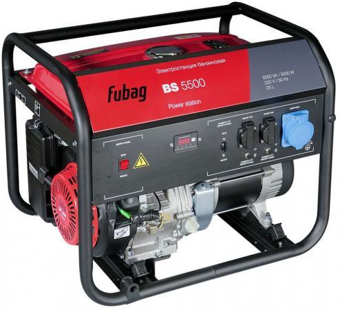 цена на Генератор бензиновый FUBAG BS 5500 5.0кВт 21.7А 25л 220В 81кг