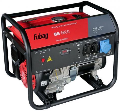 Генератор бензиновый FUBAG BS 6600 DA ES с электростартером и коннектором автоматики бензиновая электростанция с электростартером fubag bs 3300 es