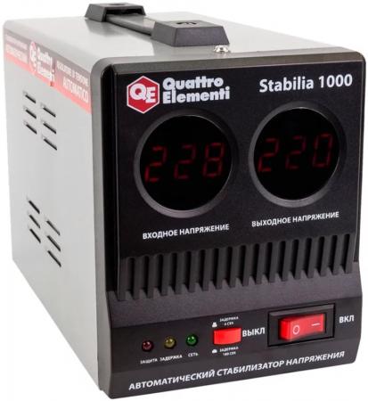 Стабилизатор QE Stabilia 1000 однофазный, цифровой 220В 1000ВА вх.:140-270В цена