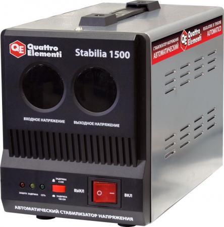 Стабилизатор QE Stabilia 1500 однофазный, цифровой 220В 1500ВА вх.:140-270В цена