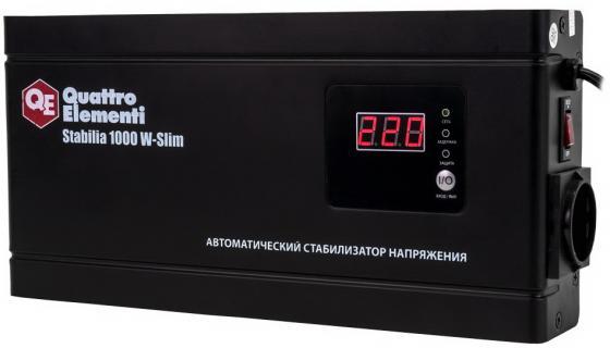 Стабилизатор напряжения QE Stabilia 1000 W-Slim  1000 ВА, 140-270 В, 2,6 кг толщина 6см