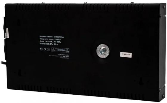Стабилизатор напряжения QE Stabilia 1500 W-Slim 1500 ВА, 140-270 В, 3,5 кг толщина 6см