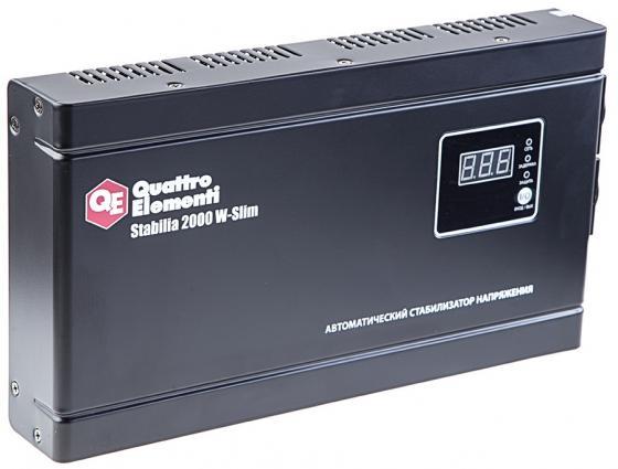 цена на Стабилизатор напряжения QE Stabilia 2000 W-Slim 2000 ВА, 140-270 В, 4,1 кг толщина 6см
