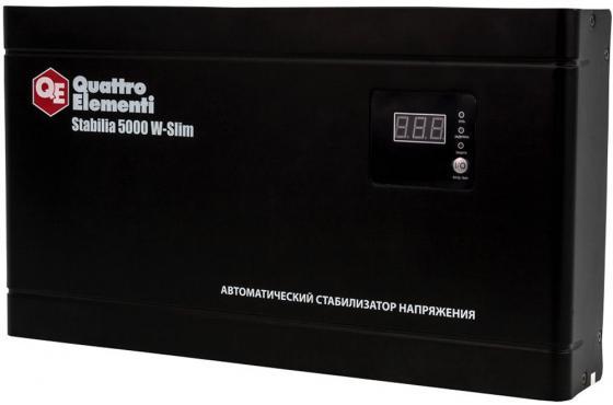 цена на Стабилизатор напряжения QE Stabilia 5000 W-Slim 5000ВА 140-270В 9.9кг настенный