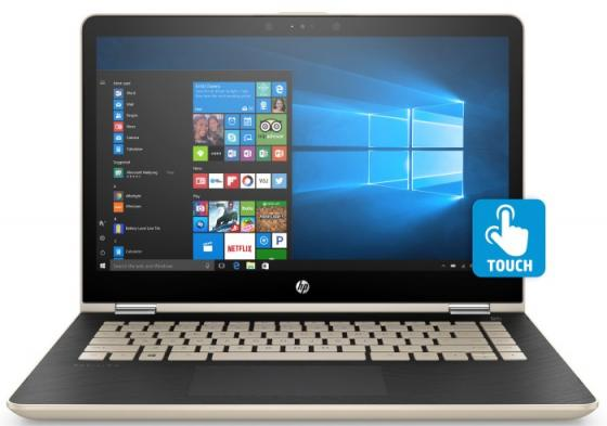 Ноутбук HP Pavilion x360 14-ba109ur 14 1920x1080 Intel Core i5-8250U 256 Gb 6Gb Intel UHD Graphics 620 золотистый Windows 10 Home 3GB54EA ноутбук hp pavilion 15 ck004ur 15 6 1920x1080 intel core i5 8250u 1 tb 4gb intel uhd graphics 620 золотистый windows 10 home 2pp67ea
