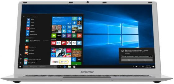 Ноутбук Digma EVE 605 15.6 1920x1080 Intel Atom-x5-Z8350 32 Gb 4Gb Intel HD Graphics 400 серебристый Windows 10 Home ES6022EW ноутбук hp x2 210 g2 10 1 1280x800 intel atom x5 z8350 4gb intel hd graphics 400 серебристый windows 10 home
