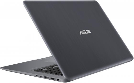 Ноутбук ASUS VivoBook S15 S510UF-BQ055T 15.6 1920x1080 Intel Core i7-8550U 1 Tb 128 Gb 12Gb nVidia GeForce MX130 2048 Мб серый Windows 10 Home 90NB0IK5-M00750