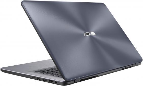 ASUS F705UA-BX424T 17.3(1600x900 (матовый))/Intel Core i5 7200U(2.5Ghz)/8192Mb/1000Gb/DVDrw/Int:Intel HD/Cam/BT/WiFi/war 1y/2.1kg/grey/W10