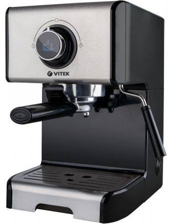 1522(BK) Кофеварка VITEK Мощность 1400 Вт Давление 15 бар. Съёмный поддон для капель. цена и фото