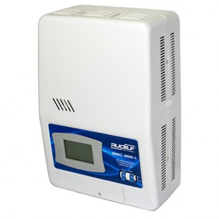 Стабилизатор RUCELF SRW.II-9000-L однофазный, цифровой 220В 7000Вт вх.:90-270В НАСТЕННЫЙ