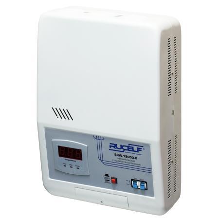 Стабилизатор RUCELF SRW-12000-D однофазный, цифровой 220В 12000ВА вх.:130-270В НАСТЕННЫЙ цена