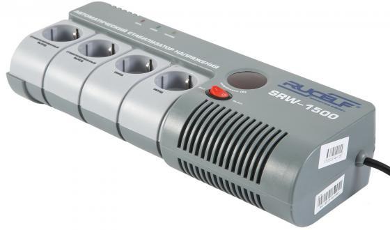 Стабилизатор напряжения Rucelf SRW-1500 4 розетки