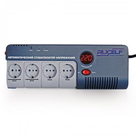 Стабилизатор RUCELF SRW-500-D однофазный, цифровой 220В 350ВА вх.:140-260В rucelf srw 500 d