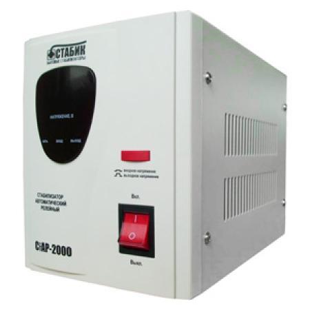 Стабилизатор СТАБИК СтАР-2000 однофазный, цифровой 220В 2000ВА вх.:140-270В цена