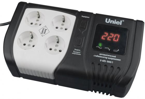 Стабилизатор напряжения UNIEL U-ARS-1000/1 145-280В 1000ВА ибп uniel u iups 1500uc