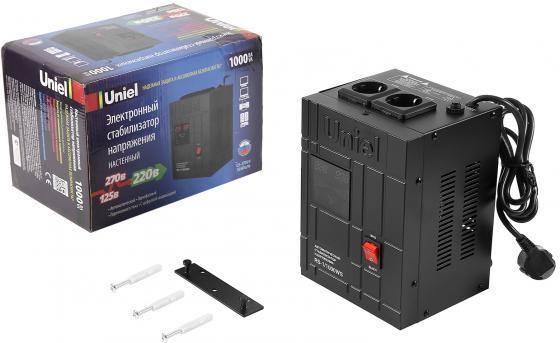 Стабилизатор напряжения UNIEL RS-1/1000WS однофазный, цифровой 220В 600Вт вх.:125-270В однофазный стабилизатор напряжения энергия classic 5000
