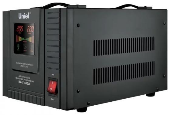 Стабилизатор напряжения UNIEL RS-1/1500LS однофазный 70-275В 1500ВА uniel utv 70