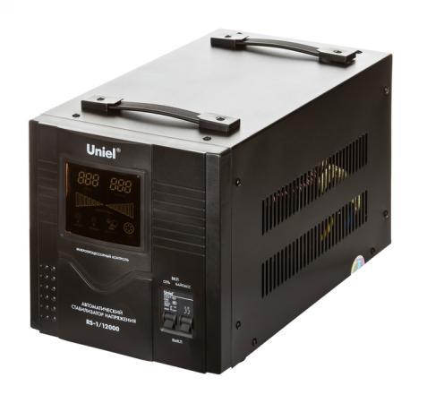 Стабилизатор напряжения UNIEL RS-1/12000 однофазный, цифровой 220В 8000Вт вх.:125-270В