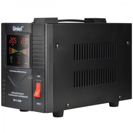 Стабилизатор UNIELRS-1/500 однофазный, цифровой 220В, 400Вт, вх.140-260В стабилизатор навесной с гальванической развязкой 500 ва uniel