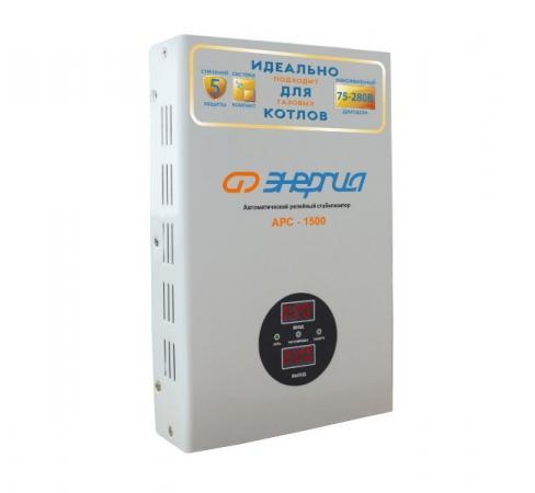 Купить Стабилизатор ЭНЕРГИЯ АРС-1500 для котлов (+/- 4%) кВА 1, 5 Входное напряжение В 120-276 Настенный, Энергия, Стабилизатор напряжения, белый