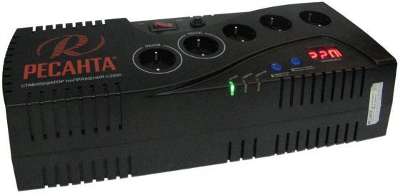 Стабилизатор напряжения Ресанта C 2000 5 розеток стабилизатор ресанта c 2000