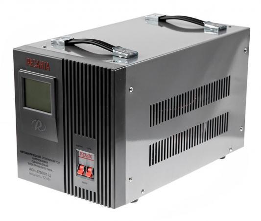 Стабилизатор РЕСАНТА АСН-12000/1-Ц однофазный, цифровой 220В 12000Вт вх.:140-260В