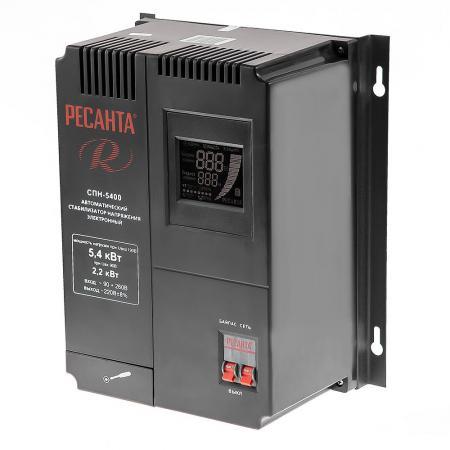 все цены на Стабилизатор РЕСАНТА СПН-5400 (СПН-3500) однофазный вх.90-260В вых.220±8% 3.5кВт 9.3кг
