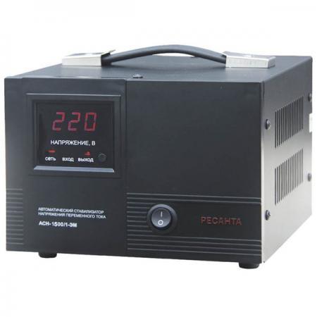 Стабилизатор напряжения Ресанта АСН-1500/1-ЭМ стабилизатор ресанта c 1500