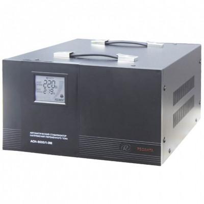 Стабилизатор РЕСАНТА АСН-8000/1-ЭМ однофазный, электромеханический 220В 8000Вт вх.:140-260В